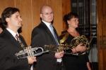 Zahájení - 3 členové Brass kvintetu