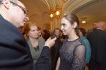 Klyuchereva Elizaveta dává rozhovor